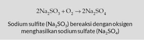 rekasi sodium sulfite