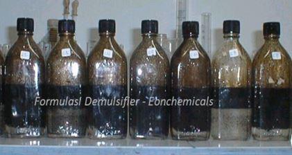 demulsifier bottle test untuk desalter