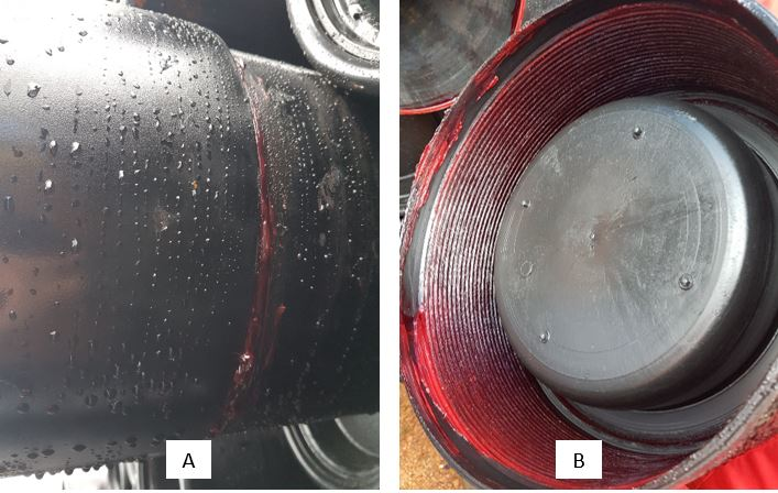 pipa tahan air dengan pipe thread compound